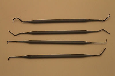 Dental Tool Pick Scaler Set 4 Pcs Teflon Coated For Direct Food Contact