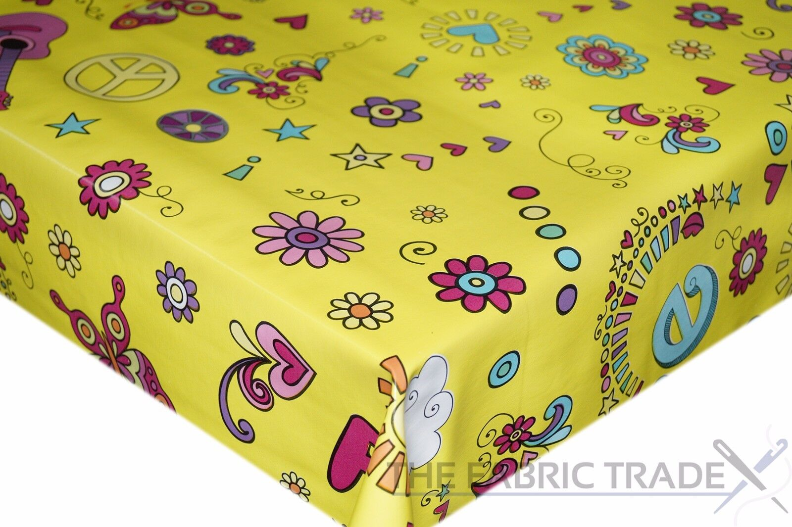 Comme neuf Green Polka Dot PVC TABLECLOTH Vinyle OILCLOTH KITCHEN DINING TABLE