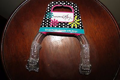 Pair of Everything Mary Clear Plastic Purse Handles with Rings - New