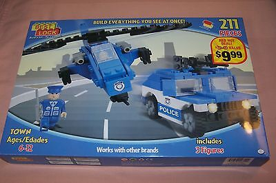 Best Lock Platinum Edition Town 211 Pieces Police Department Works w/ Name