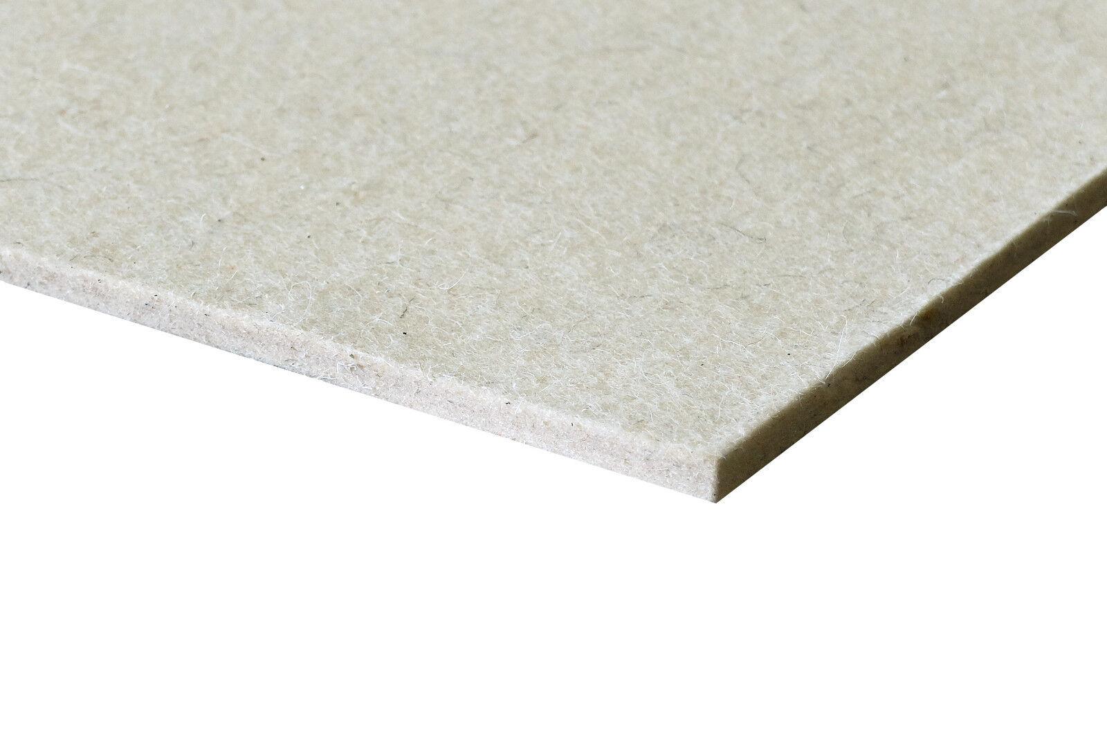 Wollfilz 2 15 mm Weiß Beige Filzmatte Filzplatte Industriefilz