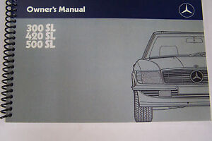 1987 mercedes 300sl 420sl 500sl owners manual w107 parts. Black Bedroom Furniture Sets. Home Design Ideas