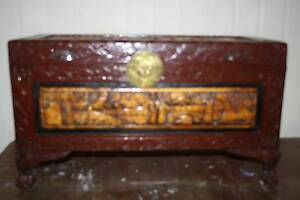 Camphor chest hand carved Rothwell Redcliffe Area Preview
