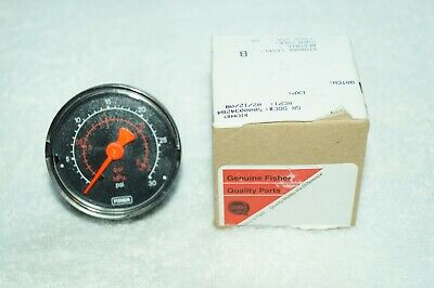 Fisher Pressure Gauge 0-30 Psi 14 In. Back Connection 11b8579x022