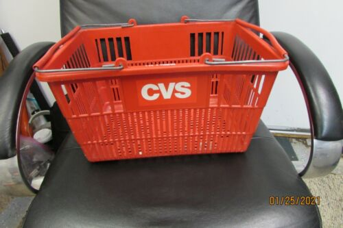 CVS shopping basket with steel handles