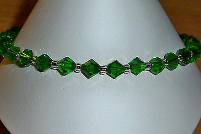 Emerald Stretch Anklet Ankle Bracelet - 10""