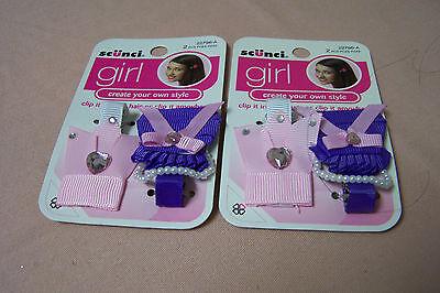 SCUNCI GIRL HAIR CLIPS 2 PER PACK NEW 2-PACKS! CREATE OWN ST