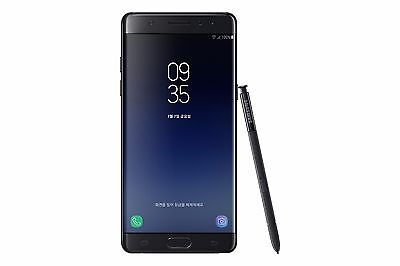 "Samsung Galaxy Note FE FAN EDITION N935 Note 7 Black 64GB 5.7"" Phone By FedEx"