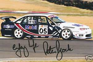Peter Brock SIGNED 1997 6x4 PHOTO PRINT V8 Supercars HOLDEN BATHURST 05