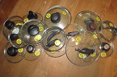Glass Pot/Pan/Casserole/Baking Dish Replacement Lids Stainless Steel Rims #5003 Glass Pot Lids