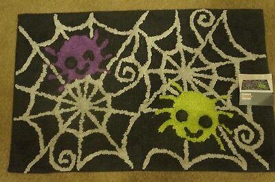 NEW Halloween Spiderweb Bath Rug  20