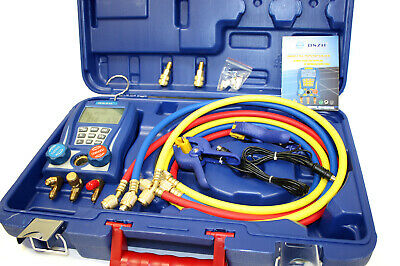 Digital Testing Manifolds Refrigeration Pressure Vacuum Gauge Meter High Guality