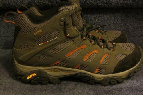 MERRELL Performance MOAB Mid Ventilator Gray Mesh Trail Hiking Boots, mens 11.5