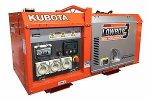 Kubota 9000 Lowboy Diesel Generator - 9 KVA - Made in Japan Kewdale Belmont Area Preview