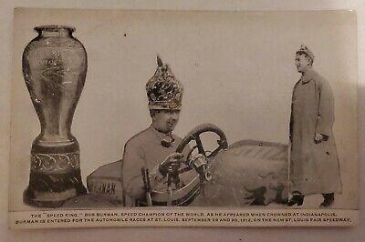 Bob Burman 1912 Original Speed Champion Of The World Indianapolis Speedway