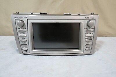 ✅ 10 11 Toyota Camry SAT Radio CD AUX Player Navi Info GPS Display E7024 JBL OEM (Audio Input Panel Assembly)
