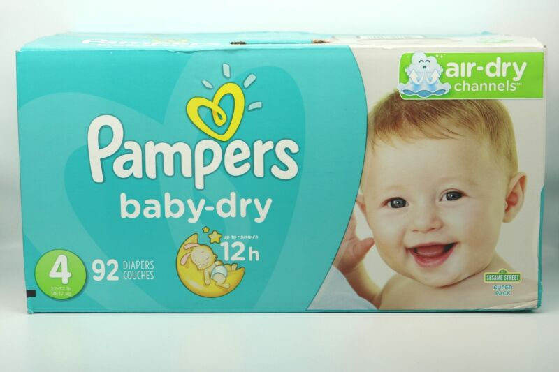 Pampers Swaddlers Disposable Diapers Size 4, 22-37 lbs 92 Sesame Street