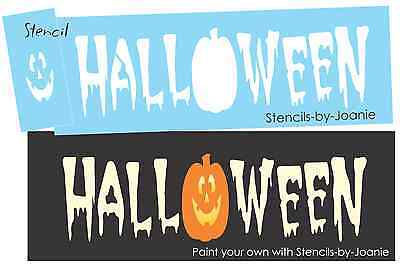 Halloween Font Stencils (Joanie Stencil Halloween Jack Pumpkin Spooky Blood Haunted font Prim Holiday)