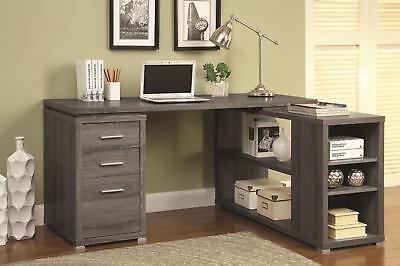 Coaster Yvette Weathered Grey Executive Desk Weathered Grey Casual