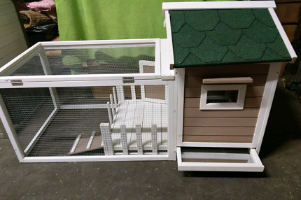 ♥RABBIT HOTEL RABBIT HUTCH RUN 146 L X 74H X 83W BELLAS MINI LOP