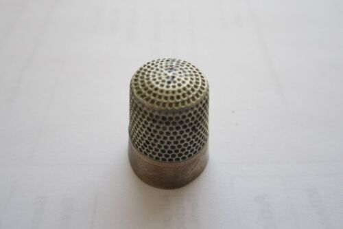 Antique Vintage Sterling Silver Sewing Thimble Number 11 Collector find