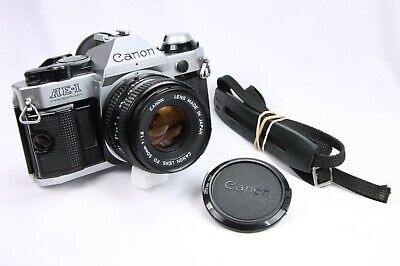CANON AE-1 PROGRAM CAMERA and 50mm 1:1.8 LENS - No Squeal