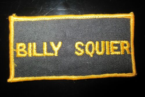Vintage Billy Squier Rock Music Patch In Mint Condition!