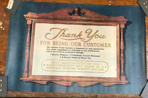 NOS 1964-1965 General Motors Dealer SHOWROOM POSTER Original Box and Frame RARE