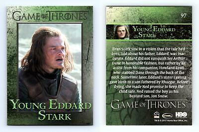 Young Eddard Stark #97 Game Of Thrones Season 6 Rittenhouse 2017 Trading Card