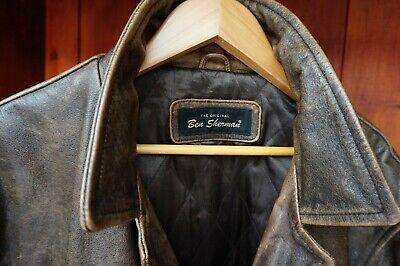 Ben Sherman XL Leather Jacket Brown Retro Smart Casual Coat