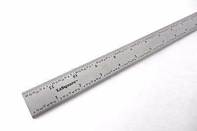 Lasquare Machinist Combination Square Blade 12 Sae Stainless Fits Starrett