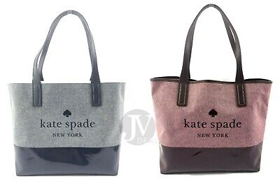 Kate Spade (Wkru5820) Ash Street Triple Compartment Canvas Tote Bag