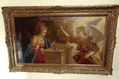 Maria Verkündung  Schüler von DOSSO DOSSI Ferrara  Öl- Gemälde , auf Eiche