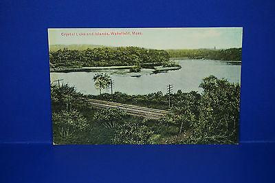 For sale Vintage Crystal Lake & Islands,Wakefield,Massachusetts Post Card,Unused PC4