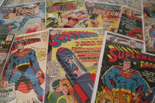 1 Lot of 5 ea Superman related Silver-Age DC Comics FREE Ship USA