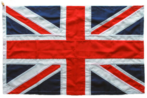 Union Jack storm flag MoD approved traditional sewn 3x2ft  92x61 cm size toggle