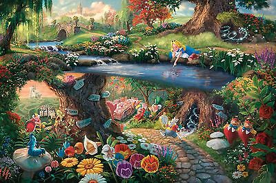 "Alice in Wonderland Disney Thomas Kinkade Art Canvas 20""x30"""
