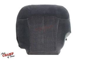 2001 2002 Chevy Silverado 2500 HD LS-Driver Side Bottom Cloth Seat Cover Dk Gray