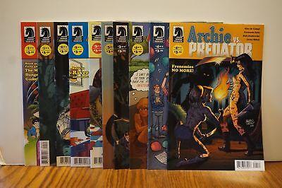 10x ARCHIE vs PREDATOR Comic SET 1 2 3 4 + VARIANT Covers~Riverdale BETTY VERONI