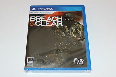 NEW & SEALED Breach and Clear Playstation PS Vita 1500 COPIES * LIMITED RUN #1