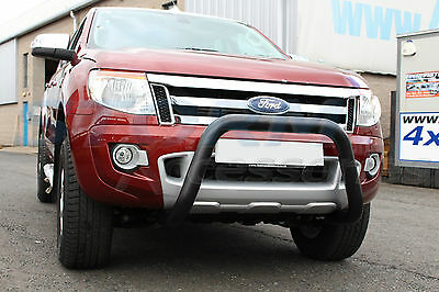 Ford Ranger T6 2012-2015 BLACK Front A-Bar, Bull Bar, Nudge Bar 76mm
