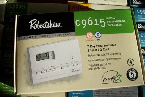 9615 C9615 Digital Programmable Robertshaw Thermostat NEW OLD STOCK  LAST 2  NEW
