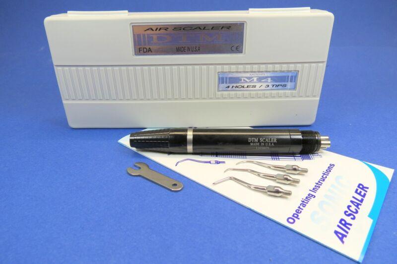Dental Air Scaler Handpiece 4 Holes M4 + 3 Tips DTM USA