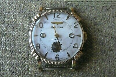 BULOVA MAN'S SMALL VINTAGE WIND-UP WATCH FOR SPARES OR REPAIR