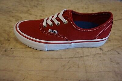 Vans Authentic Pro Scarlet/White NEW size 9.5