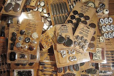 NEW Tim Holtz Idea-ology Embellishments Metal Mixed Media PICK ONE OF 50 TYPES! - Craft Idea