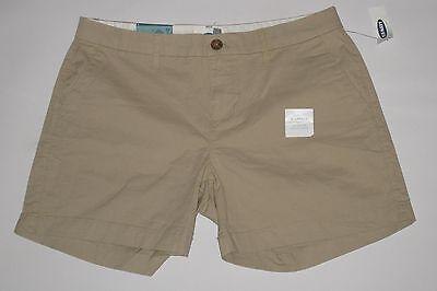 "NWT- OLD NAVY Beige / Tan / Khaki 5"" shorts Size 14"