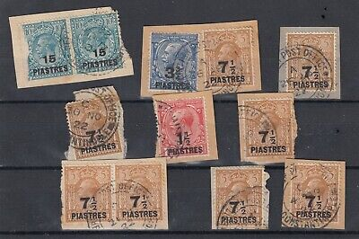 British Levant KGV Collection Of Pieces Fine Used JK3489