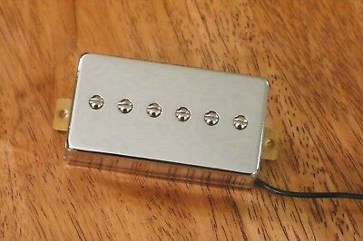 HUMBUCKER SIZED P90 BRIDGE PICKUP ALNICO 2 MAGNETS IN CHROME for sale  Woodstock