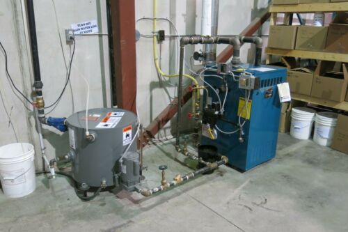 2013 BURNHAM MOD IN5, 86,000 BTU, NATURAL GAS STEAM BOILER, W/ CONDENSATE TANK